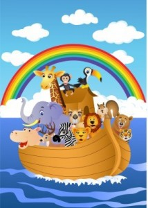 God protected Noah and his family in the ark.