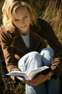 She meditates on the Holy Scriptures regularly ...