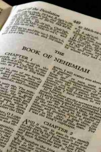 The book of Nehemiah is a great story of the rebuilding of Jerusalem. It also serves as an example to us that we need to be constantly reminded of God's Word.