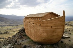 From what kind of wood did Noah build the ark?