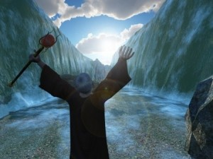 God miraculously intervened by parting the waters of the sea, allowing the Israelites safe passage...