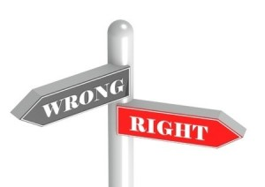 "In order to answer the question, ""Is it ever right to do wrong?"", we must determine what is right and what is wrong in God's eyes, and do that."