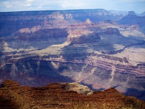 Marine fossils are found in the walls of the Grand Canyon.