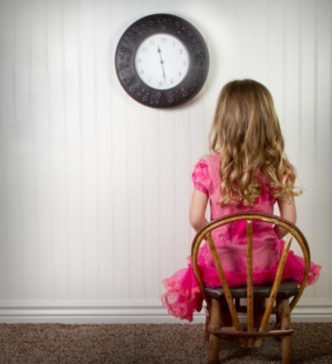 Older children may be better off by giving them a time out...