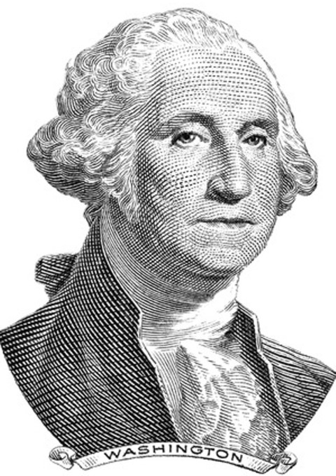 George Washington, 1st President of the United States of America
