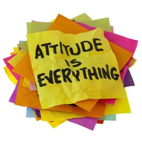 Consider how your attitude contributes to someone else's day.