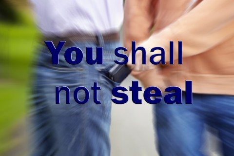 You shall not steal