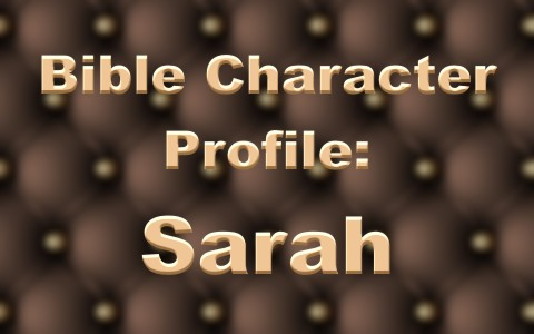 Sarah In The Bible