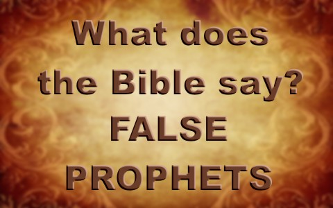 What Does The Bible Say About False Prophets