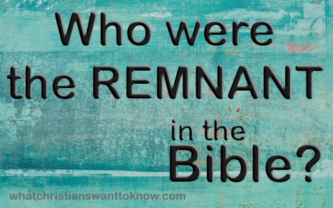 Who were the remnant in the bible