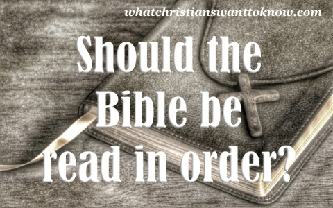 should the bible be read in order